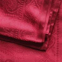 Handgewebter Jacquard Seidenschal 100 % reine Seide rot Variation-