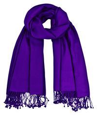 Premium Pashmina violett lila 100% Kaschmir 90 x 200 cm doppelt verzwirnt Variation-