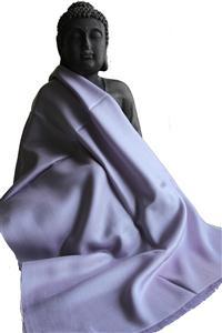 Handgefertigter Seidenschal flieder 45cm x 180cm Variation-