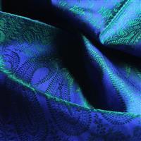 Handgewebter Jacquard Seidenschal 100% reine Seide blau-grün Variation-