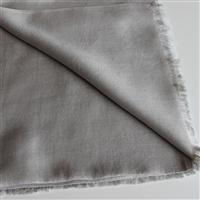 Handgefertiger Seidenschal grau greige 45cm x 180cm Variation-
