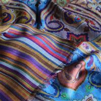 Designer Webschal groß Pareo Regenbogen Mustermix 100 x 200 cm Variation-