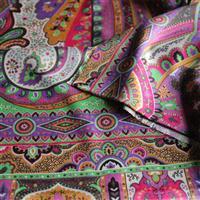 Seidenschal 100% Seide Mustermix Pastellfarben 70 x 180 cm Variation-