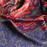 Designerschal Mustermix 92% Wolle, 8% Seide 70 x 180 cm Variation-