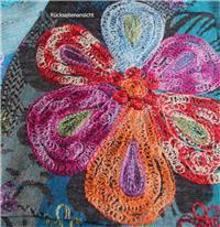 Excellent Handbestickter Wollschal 65 x 195 cm Fine Wool Variation-
