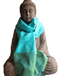 Handgewebter Seidenschal Fairtrade reine Seide 45 x 185 cm Variation-
