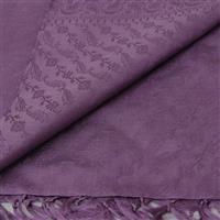 Handgewebter Jacquard Seidenschal 100% reine Seide malve 55 x 180 cm Variation-