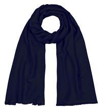 Handgefertigter Seidenschal blau nachtblau 45 x 180 cm Variation-