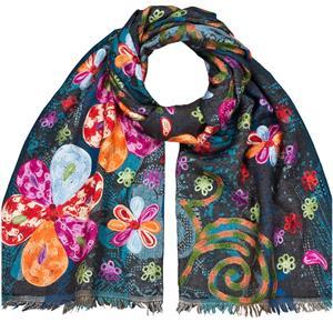 Excellent Handbestickter Wollschal 65 x 195 cm Fine Wool