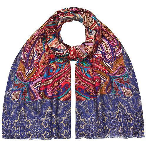 Designerschal Mustermix 92% Wolle, 8% Seide 70 x 180 cm