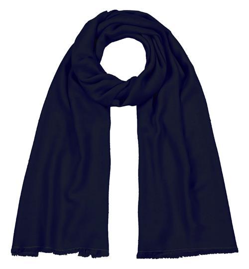 Handgefertigter Seidenschal blau nachtblau 45 x 180 cm