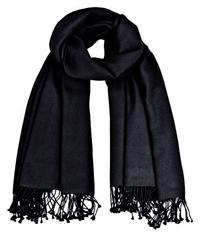 Premium Pashmina schwarz 100% Kaschmir doppelt verzwirnt 90cm x 200cm Variation-