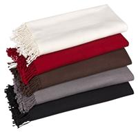 Premium Pashmina rot 100% Kaschmir doppelt verzwirnt 90cm x 200cm Variation-