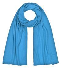 Feinstrickschal türkisblau weichfließend aus 100% Kaschmir 45 x 180 cm Variation-