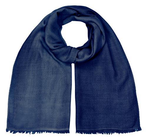 Merino Schal Oil washed 100% feinste Merinowolle handgewebt Jeansblau 45 x 180 cm