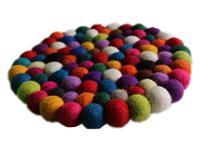 Fairtrade Filz Untersetzer Topf Untersetzer kunterbunt 22 cm handgefertigt aus reiner Wolle, hitzebeständig Variation-