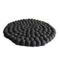 Fairtrade Filz Topf Untersetzer anthrazit 22 cm handgefertigt aus reiner Wolle, hitzebeständig Variation-