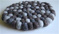 Fairtrade Filz Untersetzer Topf Untersetzer kiesel natur dunkel 22 cm handgefertigt aus reiner Wolle, hitzebeständig Variation-