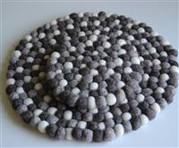 Filz Untersetzer Topf Untersetzer GROSS natur hell 40 cm handgefertigt Fairtrade  aus reiner Wolle, hitzebeständig Variation-
