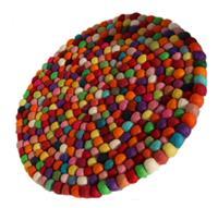 Filz Untersetzer Topf Untersetzer GROSS bunt 40 cm handgefertigt Fairtrade aus reiner Wolle, hitzebeständig Variation-