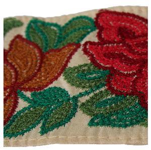*Reststück* Blumenborte bestickt Sariborte 8 cm breit
