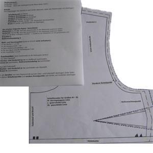 Sari Blusen Schnittmuster Choli Lehenga Choli Gr. XS-XL mit Schritt für Schritt Anleitung