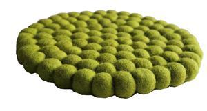 Fairtrade Filz Untersetzer Topf Untersetzer apfelgrün 22 cm handgefertigt aus reiner Wolle, hitzebeständig