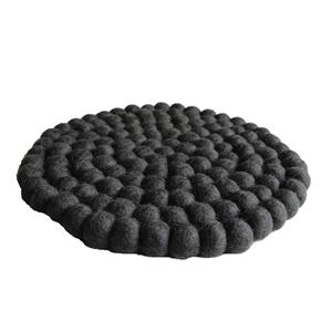 Fairtrade Filz Topf Untersetzer anthrazit 22 cm handgefertigt aus reiner Wolle, hitzebeständig