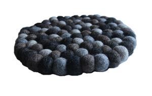 Fairtrade Filz Untersetzer Topf Untersetzer kiesel natur dunkel 22 cm handgefertigt aus reiner Wolle, hitzebeständig