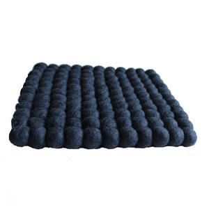 Fairtrade Filz Untersetzer Topf Untersetzer anthrazit quadratisch 22 x 22 cm handgefertigt aus reiner Wolle, hitzebeständig