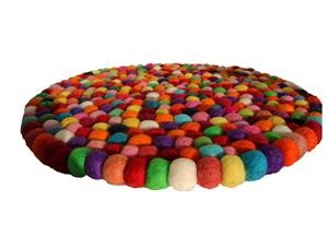 Filz Untersetzer Topf Untersetzer GROSS bunt 40 cm handgefertigt Fairtrade aus reiner Wolle, hitzebeständig