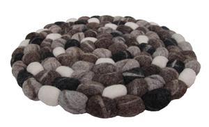 Filz Untersetzer Topf Untersetzer GROSS Kiesel 38 cm handgefertigt aus reiner Wolle, hitzebeständig