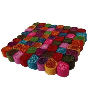 Filz Untersetzer Topfuntersetzer bunt 20 cm handgefertigt reine Wolle, hitzebeständig