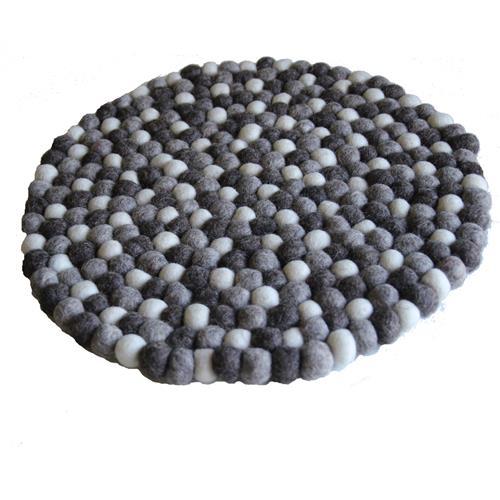 Filz Untersetzer Topf Untersetzer GROSS natur hell 40 cm handgefertigt Fairtrade  aus reiner Wolle, hitzebeständig