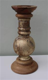 kerzenleuchter kerzenst nder antik gef rbtes glas mangoholz h he 39 cm. Black Bedroom Furniture Sets. Home Design Ideas