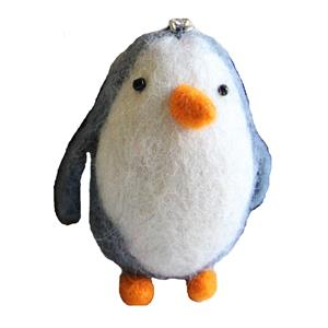 Fairtrade Filz Pinguin Schlüsselanhänger Taschenanhänger Glücksbringer  handgefilzt