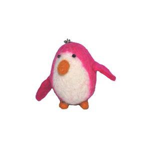 Fairtrade Filz Pinguin pink Schlüsselanhänger Taschenanhänger Glücksbringer handgefilzt