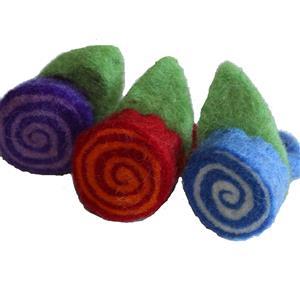 Fairtrade Fingerring Filzblüte handgefertigt 3er Set