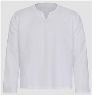 Indisches Hemd Kurti für den Herren Baumwolle weiß