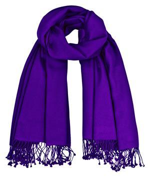 Premium Pashmina violett lila 100% Kaschmir 90 x 200 cm doppelt verzwirnt