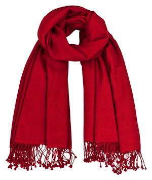 Premium Pashmina rot 100% Kaschmir doppelt verzwirnt 90cm x 200cm