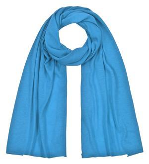 Feinstrickschal türkisblau weichfließend aus 100% Kaschmir 45 x 180 cm