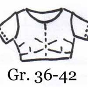 Handgezeichnetes Schnittmuster Choli - Saribluse - Gr. 36-42