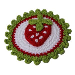 Häkelaufnäher Erdbeere