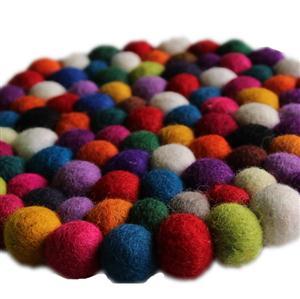 Filz Untersetzer Topf Untersetzer kunterbunt 20 cm handgefertigt aus reiner Wolle, hitzebeständig