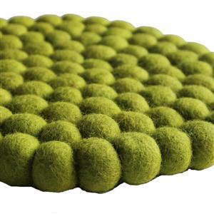 Filz Untersetzer Topf Untersetzer apfelgrün 22 cm handgefertigt aus reiner Wolle, hitzebeständig