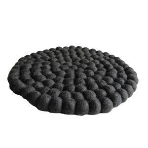 Filz Topf Untersetzer anthrazit 22 cm handgefertigt aus reiner Wolle, hitzebeständig