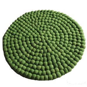 Filz Untersetzer Topf Untersetzer GROSS grün 40 cm handgefertigt aus reiner Wolle, hitzebeständig