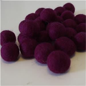 Filzbälle Filzkugeln handgefertigt Fairtrade 10 Stück große Farbauswahl ca. 2 cm reine Wolle