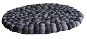 Filz Untersetzer Topf Untersetzer GROSS natur dunkel 40 cm handgefertigt Fairtrade aus reiner Wolle, hitzebeständig